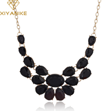 Buy New Fashion lady Banquet Accessories multicolour acrylic gem choker necklace Pendant jewelry statement bib necklace women N489 for $1.46 in AliExpress store