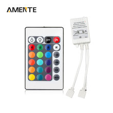 1Pcs 16 Colors RGB IR Remote Controller DC 12V 2 Interfaces Dual Connectors Output For LED Strip Light Ribbon 2835 5050 5630 SMD