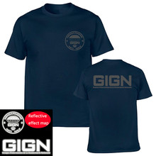 2017 France French Special Elite Police Forces Unit GIGN Raid BRI  ReflectiveT shirt Tee Mens tshirt homme 100% Cotton
