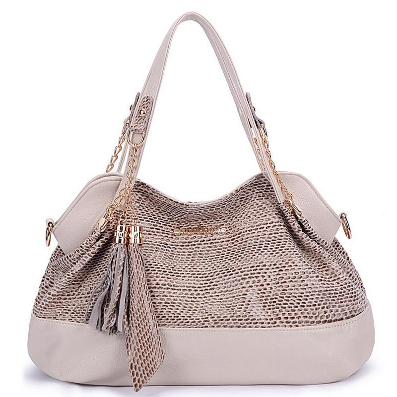 Luxury Designer PU Leather Handbags for Women sac a main High Quality Tassel Shopping Tote Fashion Shoulder Bags  LJ-0627<br>