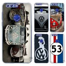 Hot Sale Volkswagen vw bus Hard Clear Case Cover Coque Shell for Huawei Honor 4 4C 4X 5 5C 5X 6 7 8 6X V8 Plus