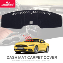 smabee Dash Mat Dashmat Black Carpet Cover For FORD MUSTANG 2015-2018 Sunscreen insulation(China)