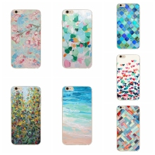 RETRO Soft TPU 3D Flower Heart Drawing Phone Cases Cover For iPhone SE 5 5s Newfangled Abstract Mobile Phone Bag For 5s 5 Cover