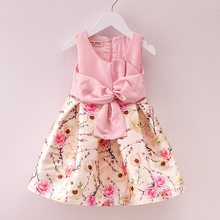 2016 New Children Formal Dress Little Girl Party Dress Spring Summer Kids Clothes Princess Holiday Floral Girls Easter Dresses