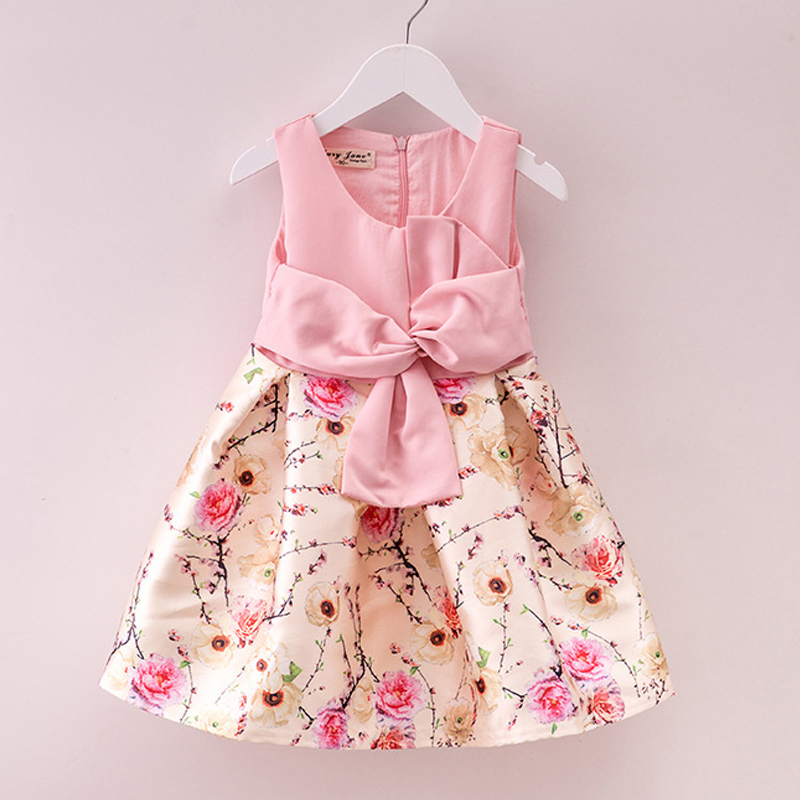 2016 New Children Formal Dress Little Girl Party Dress Spring Summer Kids Clothes Princess Holiday Floral Girls Easter Dresses(China (Mainland))