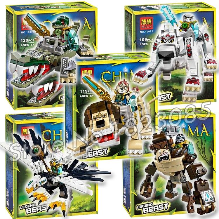 100pcs Bela Lion Eagle Gorilla Crocodile Wolf Legend Beast DIY Striker Building Blocks Model Toys Compatible with Lego<br><br>Aliexpress