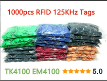 8 Color 100pcs RFID Tag TK4100 EM4100 125KHz Proximity Keyfobs Tags RFID Card for Access Control Time Attendance(China)