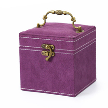 Newest Popular Velvet Jewellery Box Storage Display Ring Necklace Bracelet Case Pink/Red