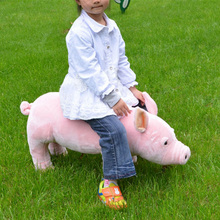 Fancytrader Ride on Pig Plush Toy Emulated Pigs Animals Kids Doll Could Load 50kg on the Back