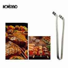 MOM'S HAND Stainless Steel BBQ Clips Barbecue Steak Tong Kitchen Cooking Tools