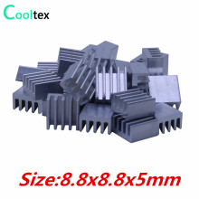 50pcs  Extruded Aluminum heatsink 8.8x8.8x5mm for Chip  VGA  RAM LED  IC radiator COOLER cooling