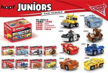 New Cars Juniors Thunder Hollow Crazy 8 Race Car Bricks Set Model Building Blocks Education Toys Children Gift Dargo 1004(China)