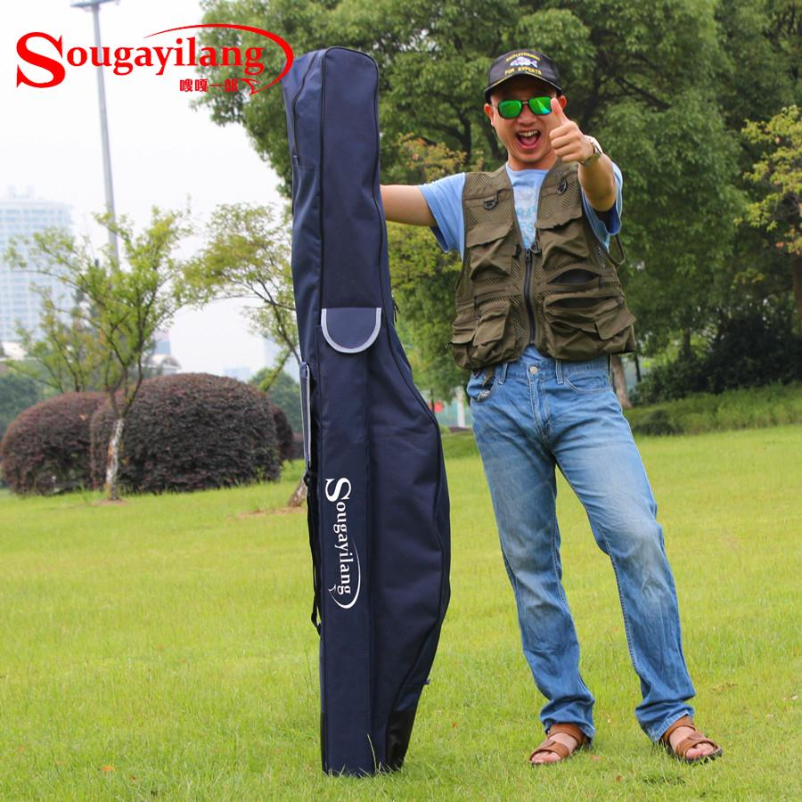High Quality 1.7m Blue Fishing Bag Multi-function Wear-resisting Fishing Bag Large Capacity Lure Rod Fishing Tackle Bag Package<br>