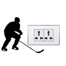 Hockey Player Creative Switch Stickers Wall Decal Room Decor 5WS0405