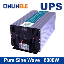 Universal inverter UPS+Charger 6000W Pure Sine Wave Inverter CLP6000A DC 12V 24V 48V to AC 110V 220V 6000w Surge Power 12000W