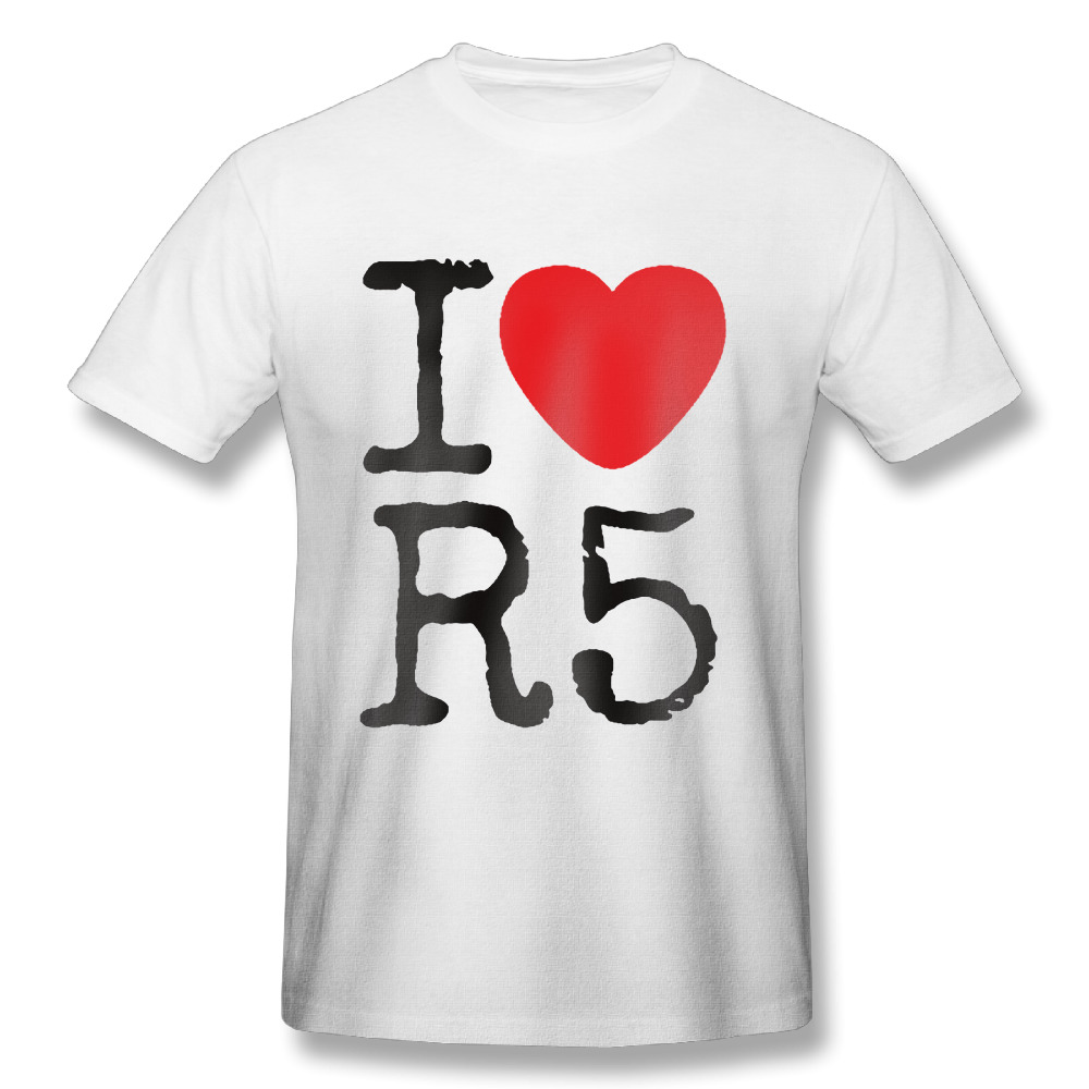Popular r5 t shirts buy cheap r5 t shirts lots from china for Love notes brand shirt