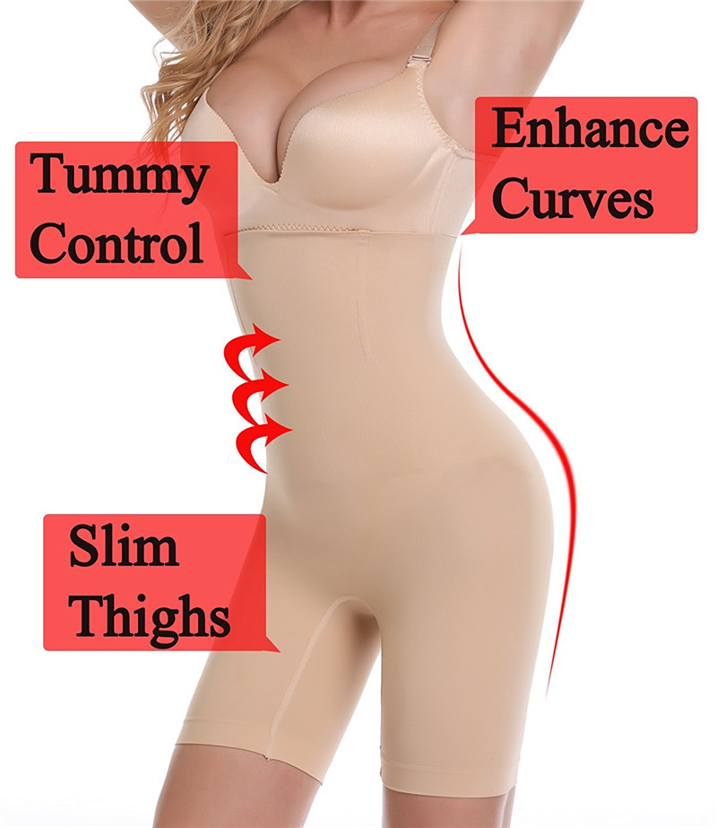 NINGMI Slimming Pants Women High Waist Trainer Tummy Control Panties Thigh Butt Lifter Slim Leg Hot Body Shaper Firm Power Short 6