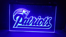 b-138 New England Patriots NFL beer bar pub club 3d signs LED Neon Light Sign home decor shop crafts(China)