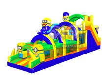 Outdoor Playground Giant Inflatable Obstacle Course for sale(China)