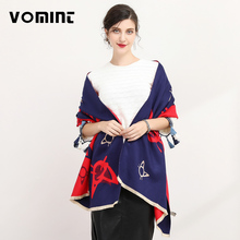 Vomint 190cm*60cm Fashion Cashmere Scarf Women Thicken Wool Warm Cape Winter Shawls and Cartoon Cat Scarves Woman L016(China)