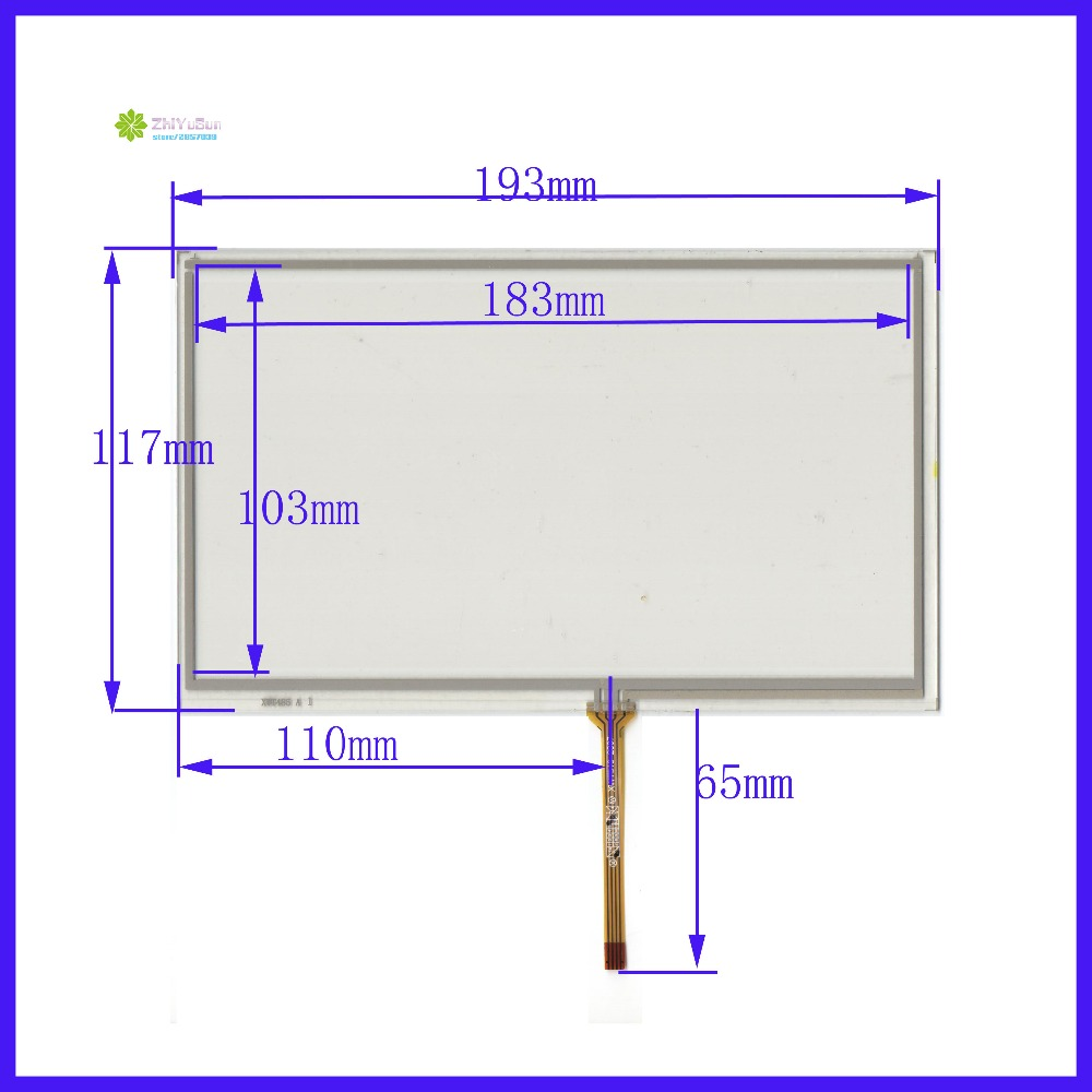 ZhiYuSun  XWT485 193mm*117mm 8inch 4 line For CarDVD touch screen panel  193*117 this is compatible for AT080TN64 display<br>