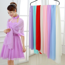 Cheap Wedding Jacket Wraps Bolero Long Chiffon Scarves Bridal Shawl Wedding Shawl 180CMX68CM Women Shrug for Wedding Party 2017