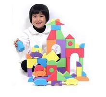 High Quality 50PCS Colorful EVA Foam Building Block Brick Set Kid Child Soft Toy Gift Christmas(China)