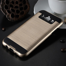 V5 cell phone case plastic silicone armor case for samsung galaxy j1 2016 j3 2016 j5 2016 j7 2016 dual layer phone covers bags(China)