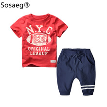 Sosaeg 2-7y Children's Suit Cotton China Imported children Clothes Baby boy summer Christmas Outfits Kids Clothing sets(China)