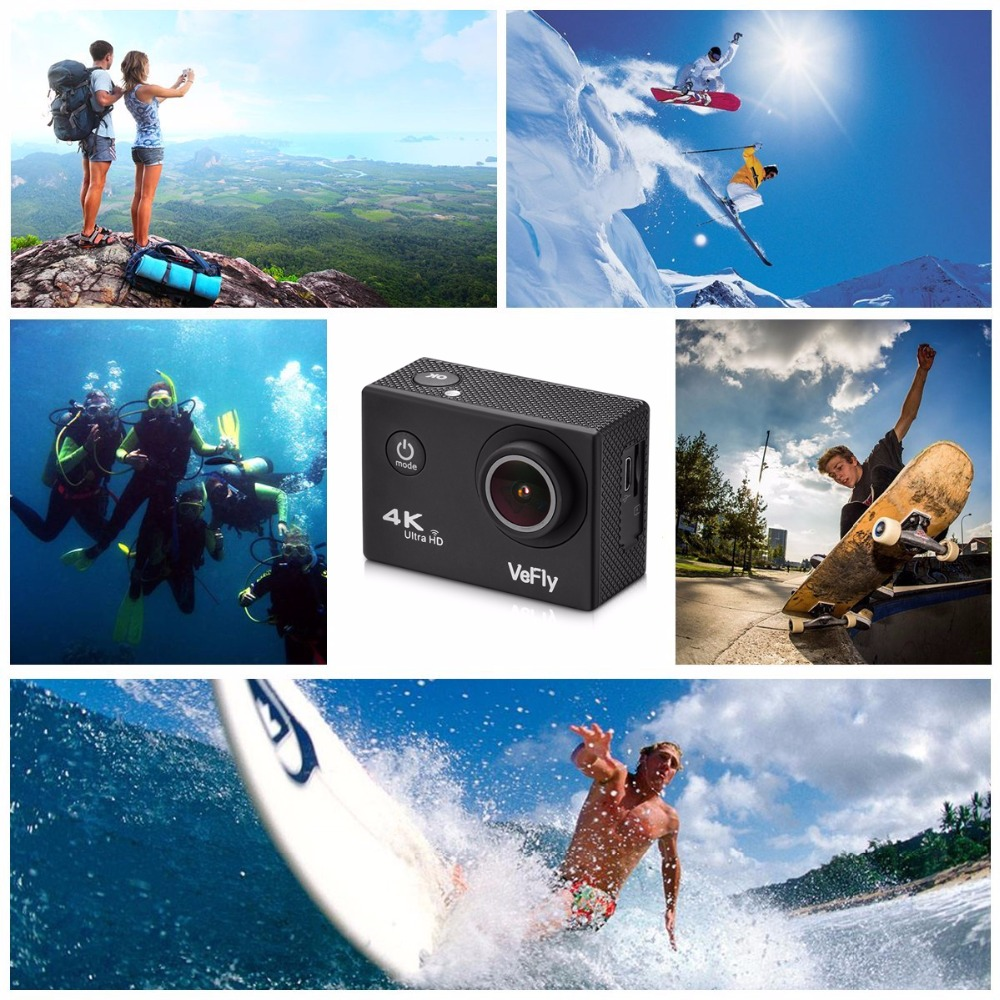 VeFly Sports & Action Video Cameras cam battery dvr car camcorder bicycle lcd actions camera sport camera action wifi 9