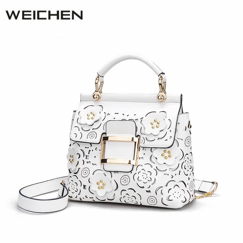 2017 Newest Hollow Out Flower Women Handbags Womens Handbag OL Fashion Female Shoulder Messenger Bags Ladies Top-handle Bag<br>