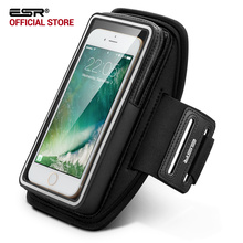 "Armband for iPhone 7 , ESR Waterproof Gym Sports Running Hiking ArmBand 5 inches Pouch Touch Case Cover Holder for 5"" phone(China)"