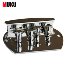 Chrome Vintage 4 String Bass Bridge For FD JB J-bass Bridge replacement high-quality metal musical instruments(China)