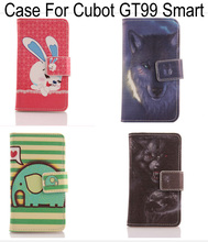 ABCTen Cartoon Animal style PU Leather Flip protection cell phone skin Cover Card holder Case For Cubot GT99(China)