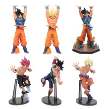 Dragon Ball Z Resurrection F Budokai Super Saiyan God Goku Genki Dama Spirit Bomb Black Yellow Red Hair Son Goku Action Figure(China)