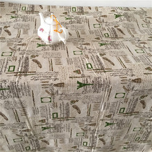 DAXIAOBU Cotton Linen Fabric Handmade Table Cover Home Deco Vintage English Letter Feather Pen 17128d