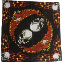2017 New Cotton Mens Skull Flame Eagle Cycling Bandanas Head Scarf Neck Headtie Headband Headwrap Hand Kerchief