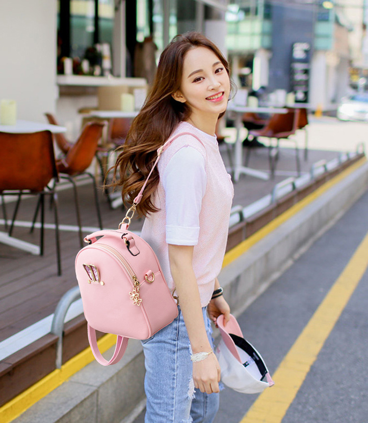 VMOHUP Cute Women Backpack School Women Pu Leather Backpacks for Teenage Girls Funny Rabbit Ears  Shoulder Bags Female Mochila (9)