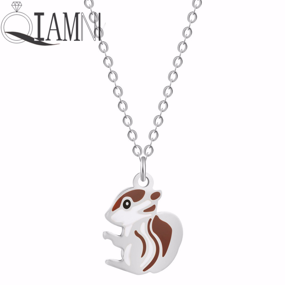 QIAMNI-Squirrel-Animal-Chain-Collar-Choker-Pendant-Necklace-Birthday-Gift-Women-Girls