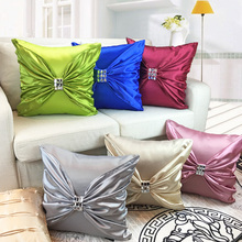 BeddingOutlet Cushion Cover European Silver Gray Decorative Pillows Case For Sofa and Bed 6 Colors Silk Bedding Cushion Covers