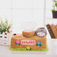 Kawill Chinchillas Totoro Plush Doll Toy Tissue Boxes Extraction Household Product Totoro Gifts For Girls Valentine's Day gift