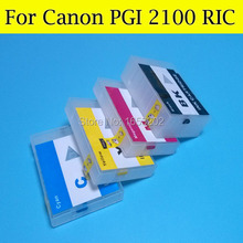 Refillable Ink Cartridge for Canon PGI2100 PGI 2100 PGI-2100XL Ink Catridge for Canon MAXIFY MB5310 IB4010 Printer with arc chip(China)