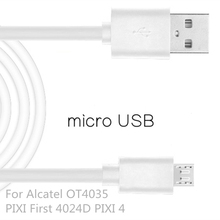 Mobile Phone Micro USB2.0 Cable For Alcatel PIXI First 4024D/PIXI 4 1m USB Data Charger Cable Sync Andrews For Alcatel OT4035
