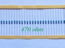 100pcs 1/4W Metal Film Resistor 470 ohm 470R 1% Tolerance Precision RoHS Lead Free In Stock