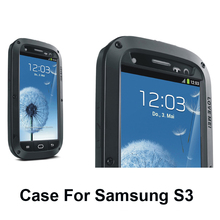 Best quality 5 Colors weather/dirt/shock proof Metal Alloy smart phone for Galaxy s3 III i9300 case cover(China)