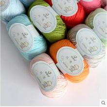Free shipping 300g(50g*6pcs) 100%Cotton Yarn Hand-Knitted Crochet For Coat Dress Soft Thread For Baby