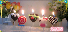 Creative Cute Hello Kitty Cartoon Balloon Lollipop Shape FestivalCake/ Cupcake Kawaii Fashion Birthday Candle Party Supplies LZ9(China)