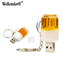 New Beer Cup USB Flash Drive USB 2.0 Memory Flash Stick Pen Drive Genuine 4GB 8GB 16GB 32GB 64GB 100% Full Capacity For PC