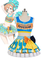 LoveLive! Rin Hoshizora Cheerleaders Uniform Cosplay Costume For Women Girls