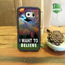 I Want To Belive X-File Movie Nebula Space Phone Cases For Samsung S7 S7 edge S6 S6 edge plus S5 S4 S3 Note5 Note4 Note3 U*0130